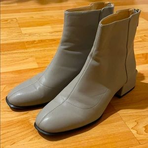 Zara - futuristic grey block heeled boots